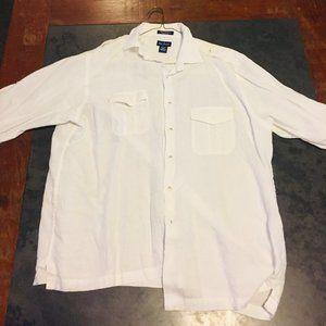 Paul fredrick white button down shirt